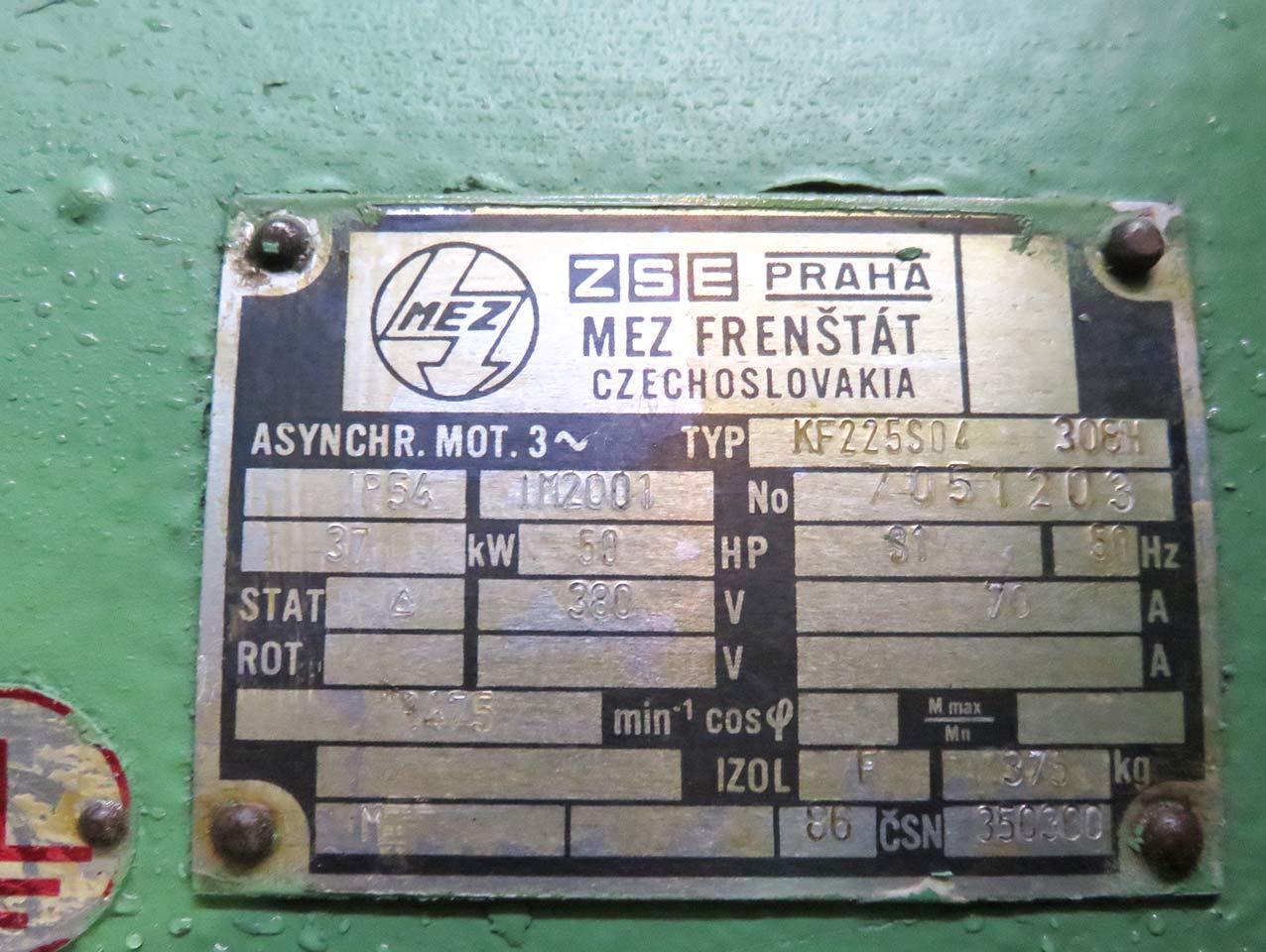 Guillotine shear Motor nameplate