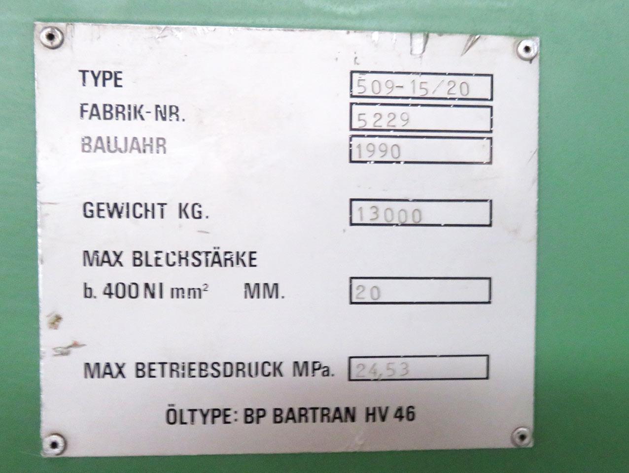 Guillotine shears nameplate