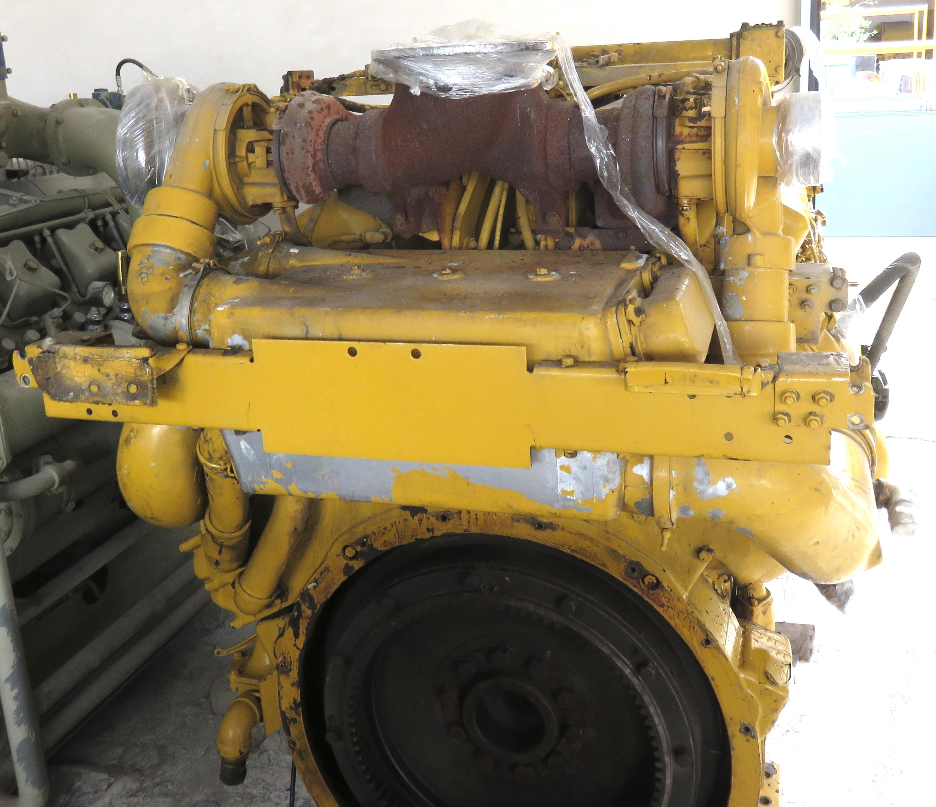 CAT D-379 engine rear view